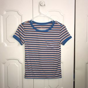 Stripped mini pocket T-shirt